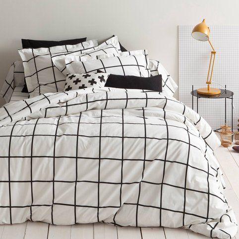 housse de couette coton imprim piastrella 3suisses. Black Bedroom Furniture Sets. Home Design Ideas