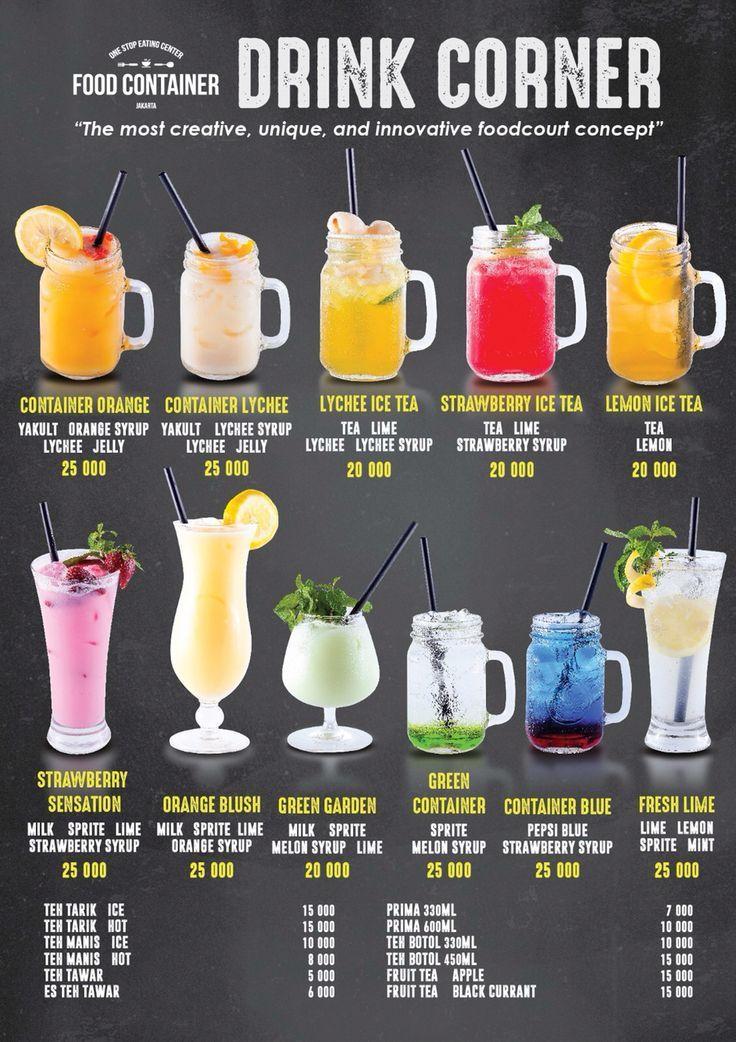 Food Container Beverage Menu Jl Lebak Bulus Raya No 30a 081215155885 Juice Menu Smoothie Menu Alcohol Drink Recipes