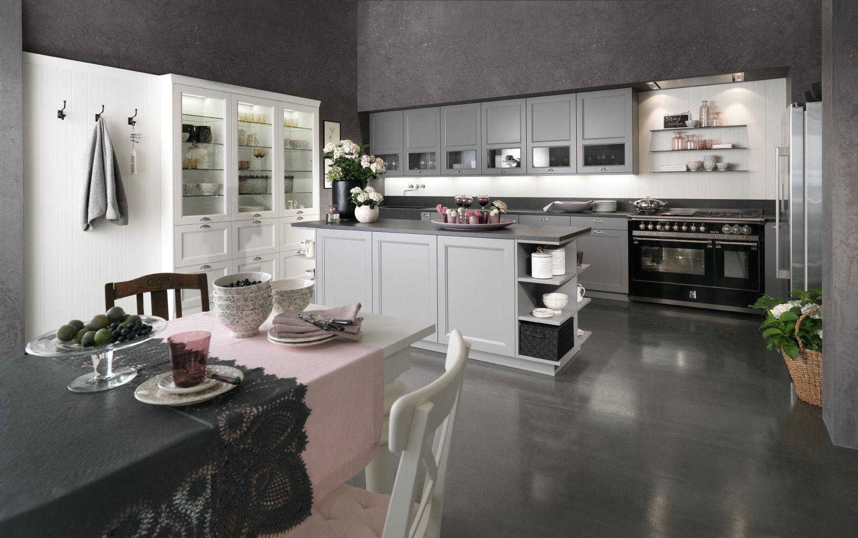 Küche | Landhausstil | offene Wohnküche | Mattlack | Kücheninsel ... | {Kücheninsel landhausstil 36}