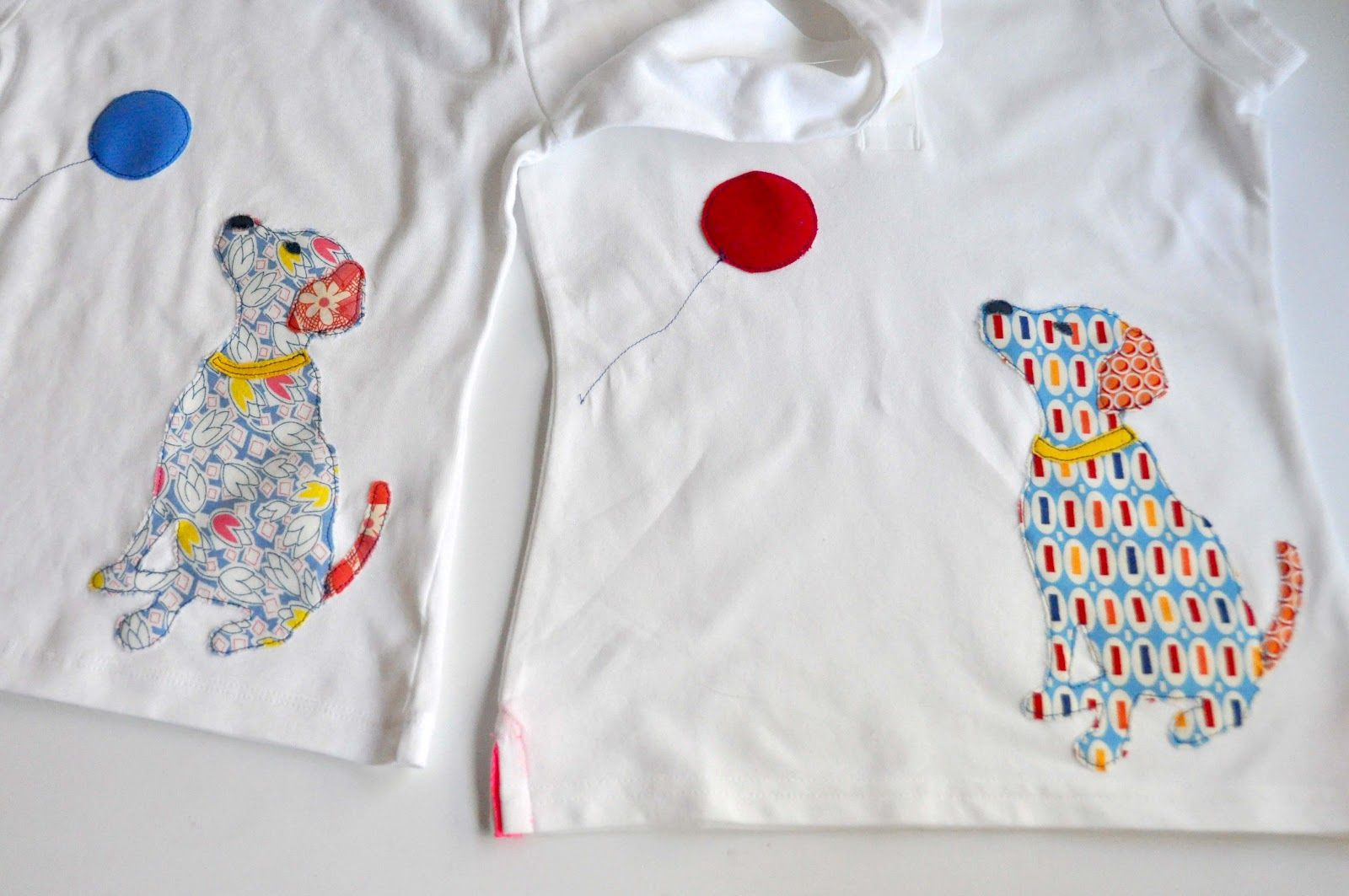 Dog Appliqued T-Shirt (Tutorial and Template)
