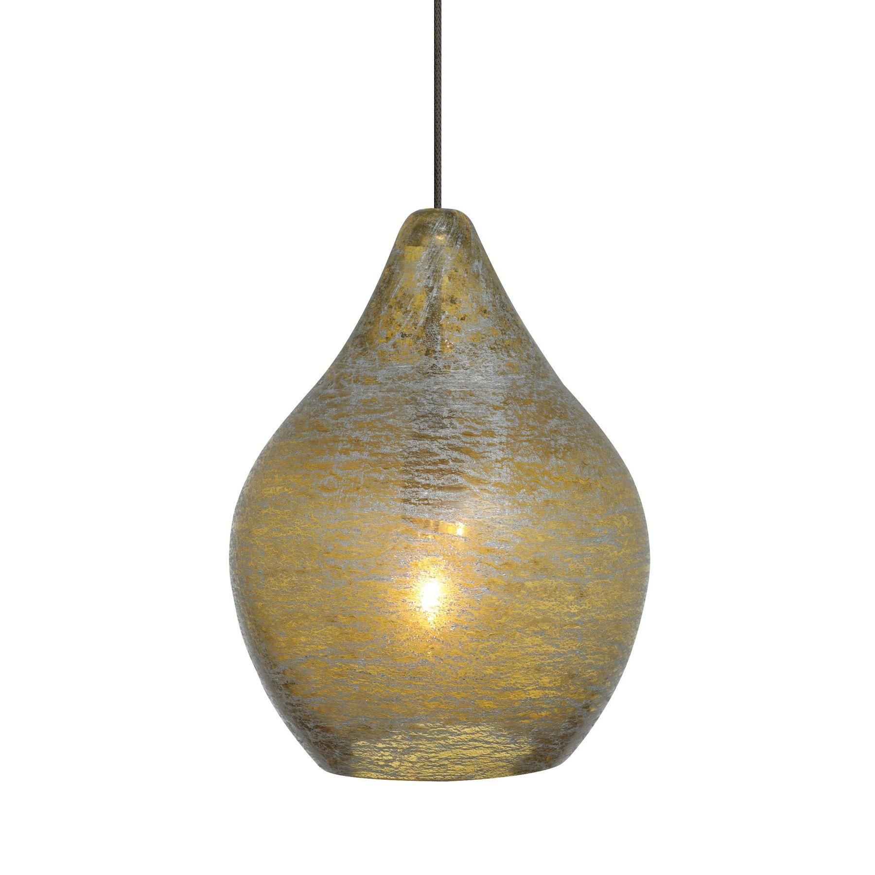 Pear Shaped Glass Shade With Playful Silver Accents Includes 1 35 Watt Low Voltage Gy6 35 Base Xenon Bi Pin Lamp And Lbl Lighting Pendant Light Light Satin
