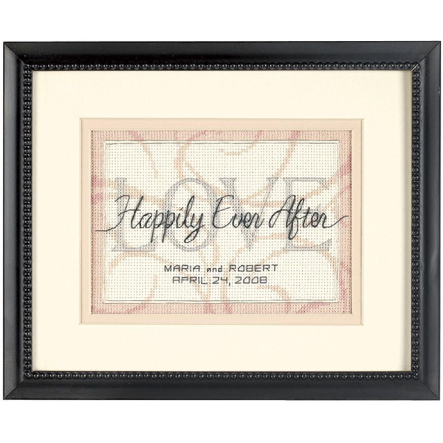 Happily Ever After Counted Cross Stitch Kit with Black Frame and ...