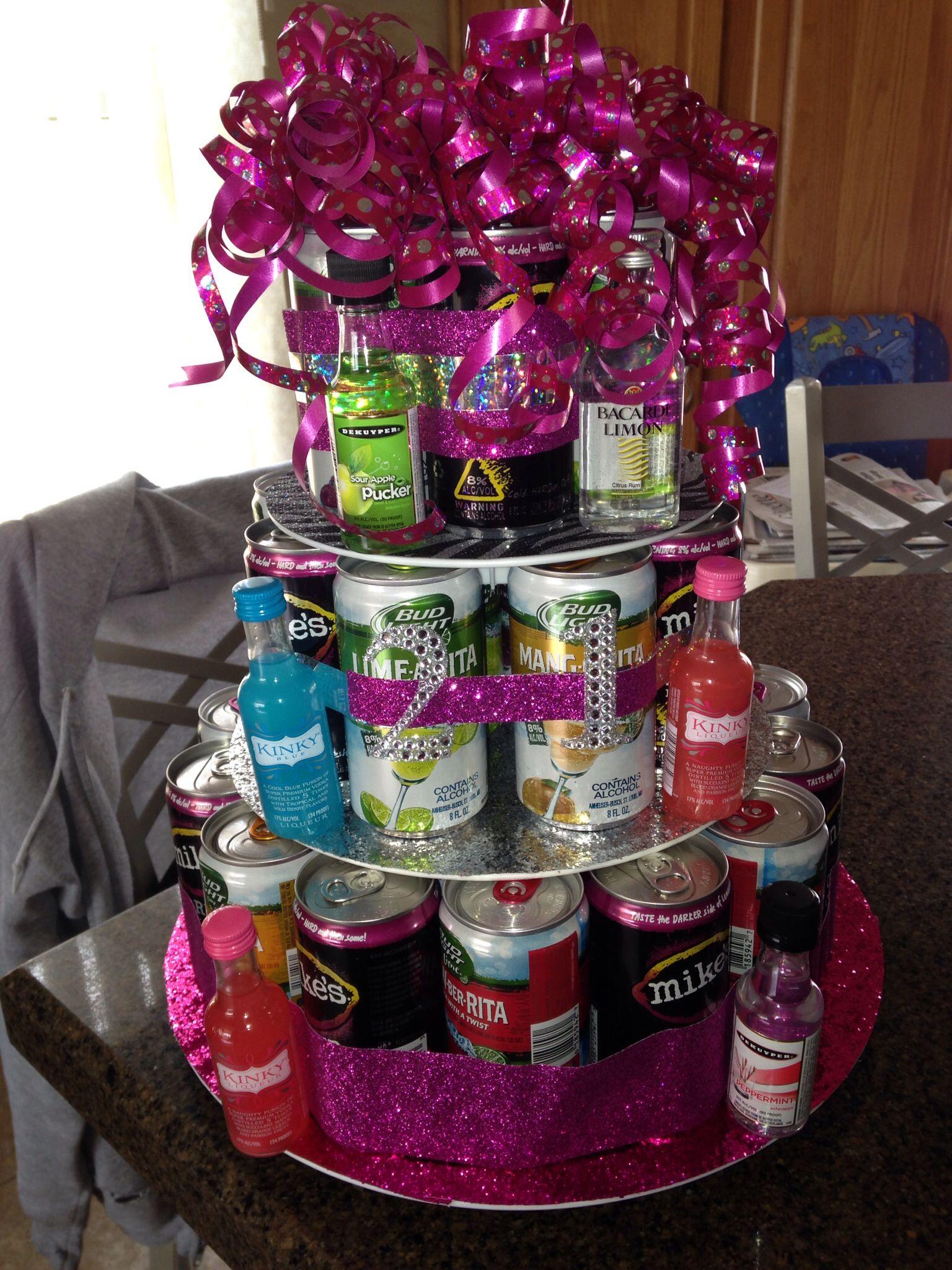 21st birthday booze cake | DIY | 21st birthday cakes, 21st ...