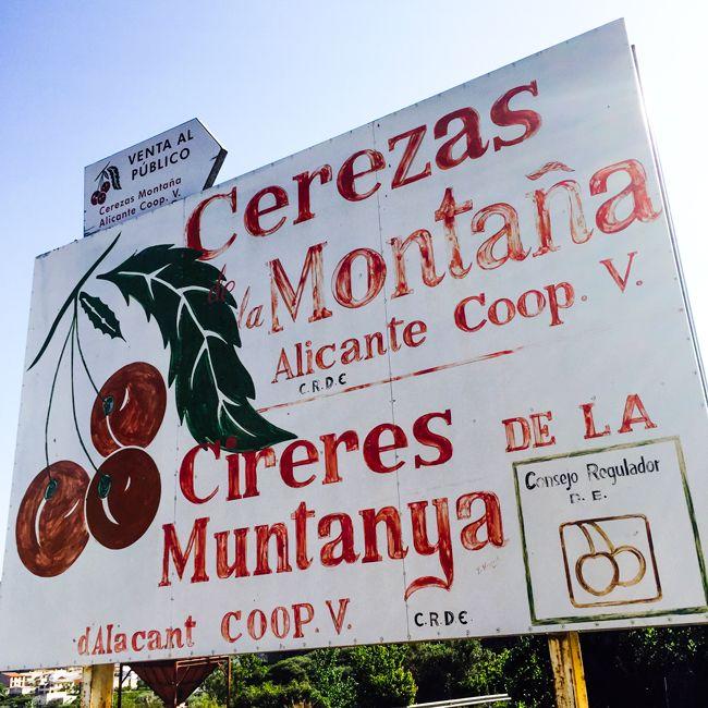 Cartel de nuestra cooperativa!! Cerezas Montaña de Alicante Coop.V.