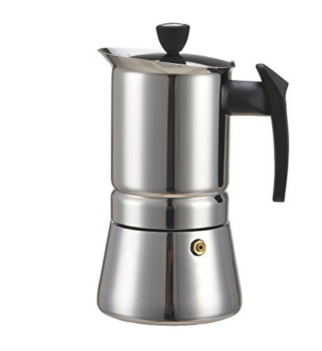 Generic 100 Ml 2 Cup Stainless Steel Moka Stovetop Espresso Maker Latte Percolator Stove Top Coffee