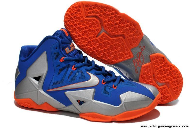 Nike Lebron XI (11) Blue Silver Orange Discount
