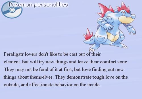 Feraligatr pokemon personalities