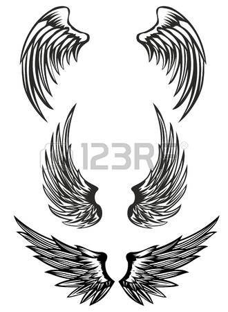 Resultado De Imagen Para Alas De Angeles Y Demonios Dibujos Angel Wings Tattoo Wings Tattoo Dog Tags Tattoo