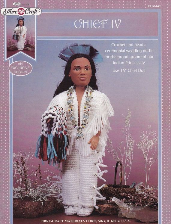 Chief Iv Fibre Craft 15 In Male Doll Clothes Crochet Pattern Fcm449