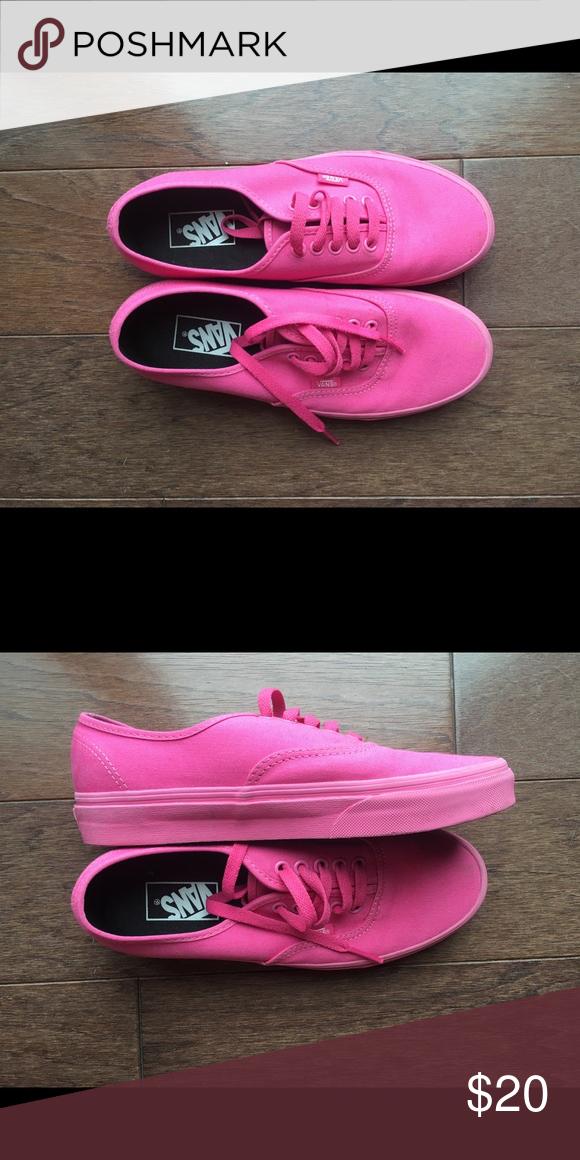 3f5b7991c0 Vans-neon pink Neon pink lace up vans Vans Shoes Sneakers