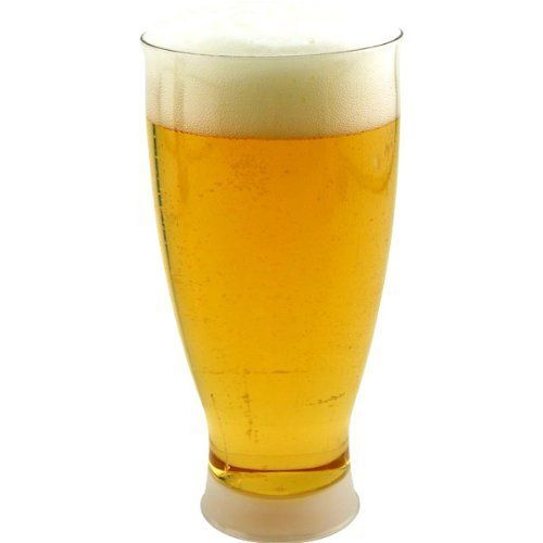 Pilsner Beer Glasses- Plastic Disposable - 14 oz.: Case of 60 by KegWorks. $52.49. Avoid cleaning dishes or even worse, cleaning up broken glass!. These clear plastic pilsner glasses are perfect for patio bars and large parties.. Great for large events and outdoor parties.. Plastic pilsner glasses are disposable, durable and way better looking than the average party cup.. Disposable cups make for easy clean up!. These clear plastic Pilsner glasses are perfect f...