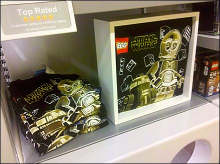 Freestanding Lego T-Shirt Shadowbox