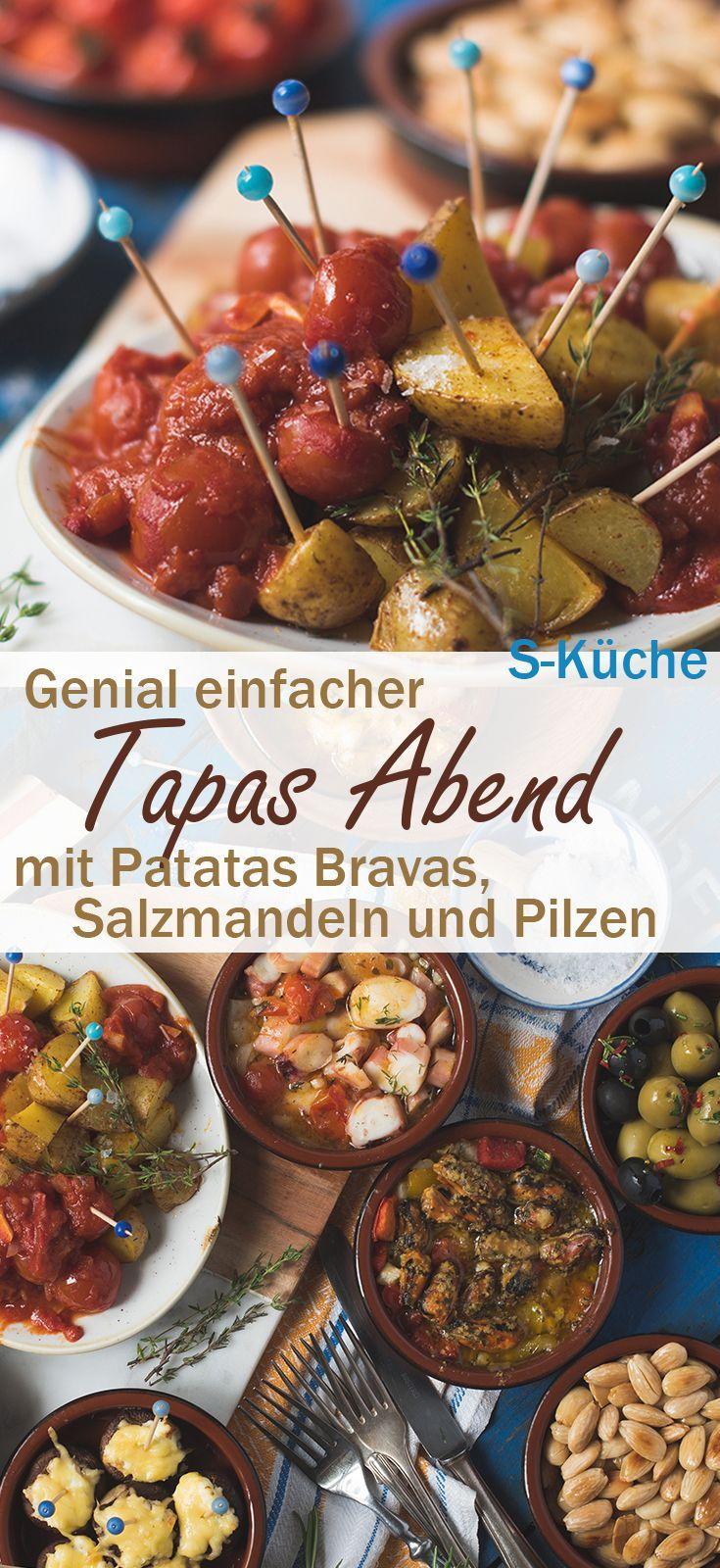 Genial einfacher Tapas Abend, Frutti di Mare, Patatas Bravas, Salzmandel