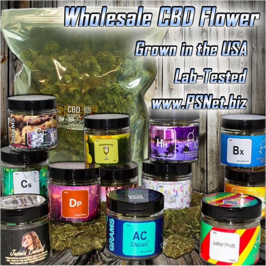 USA grown CBD Flowers at Flowers, Smoke shops