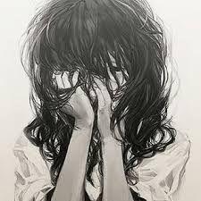 R sultat de recherche d 39 images pour manga triste noir et - Image manga fille triste ...