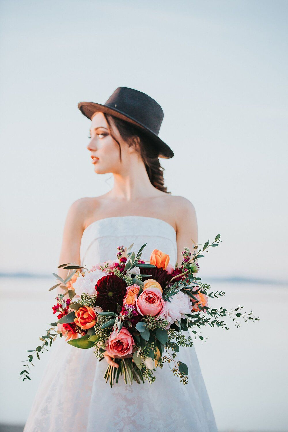 Vibrant Spring Wedding Inspiration in the Mountains | Antelope Island, Utah — Poppy & Bloom Floristr