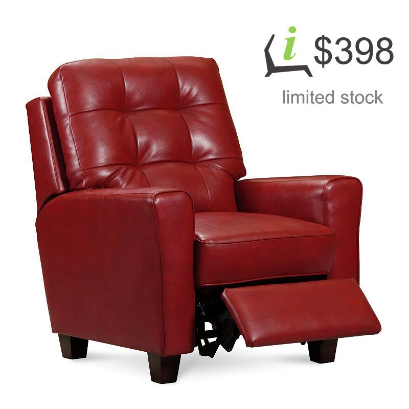 Red Leather Recliners Sale | Emily 2913 Power Recliner by ...