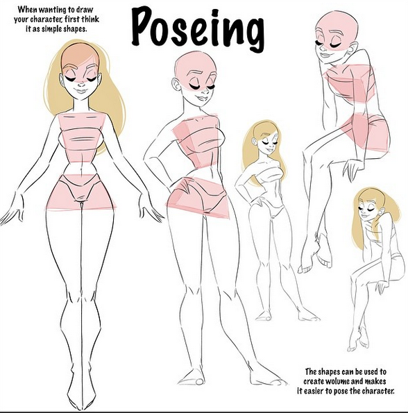 Female Character Design Tutorial : Poseing all credits to pernille oerum on instagram