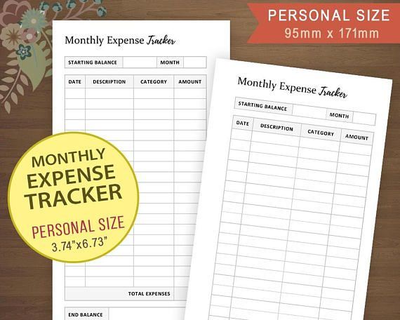 expense tracker budget tracker monthly finanace planner expense