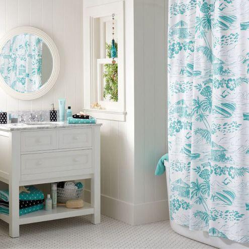 25 ideas de decoración para baños pequeños Turquoise