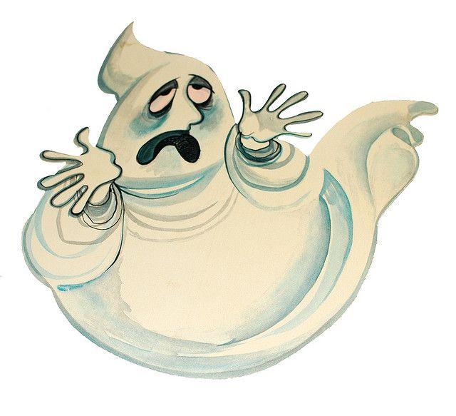 Vintage Halloween Decoration Hallmark Moaning Ghost Die Cut Circa Late 1960s