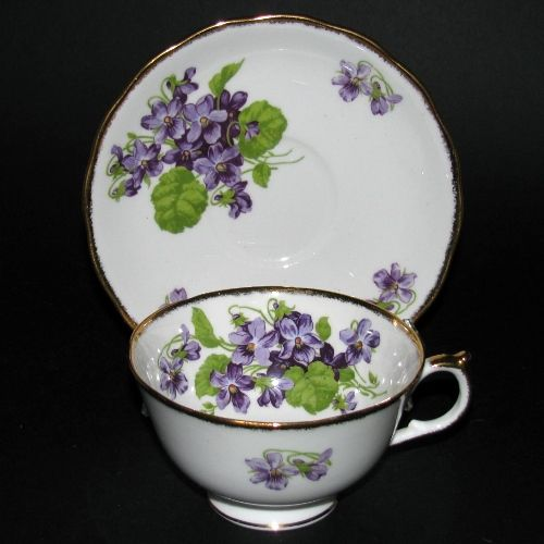 """Melba"" Violets Bone China  Made in England"