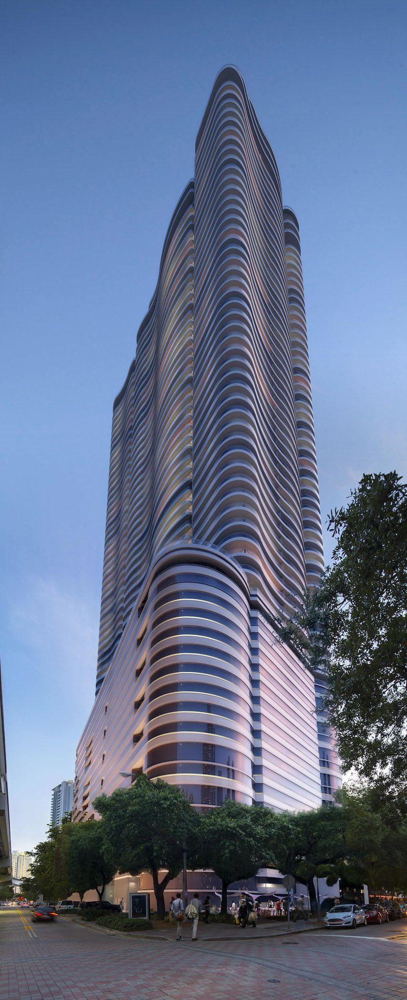 Brickell Flatiron Investinmiami Com Brickell Flatiron Architecture Details Luxury Condo