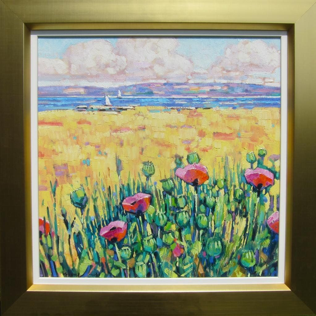 Amazon Com Art Corn Poppies Galloway Oil On Canvas Terence