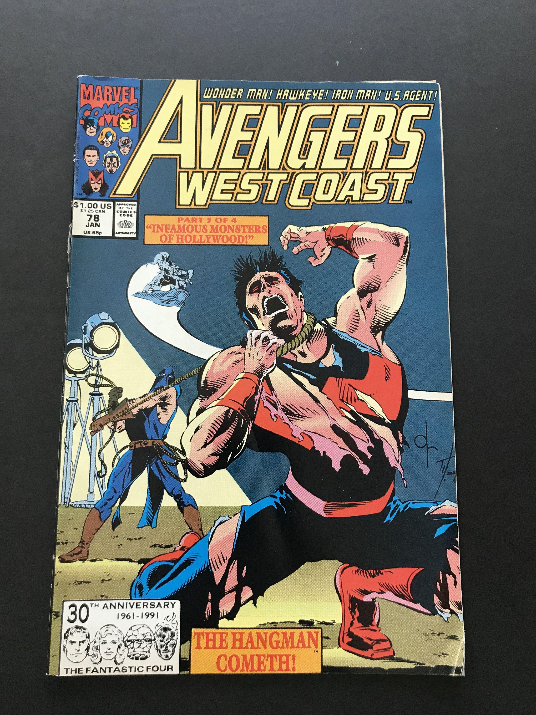 Marvel Comic Group Avengers West Coast Vol 2 Number 78 Comic Etsy Avengers Marvel Comics Comics