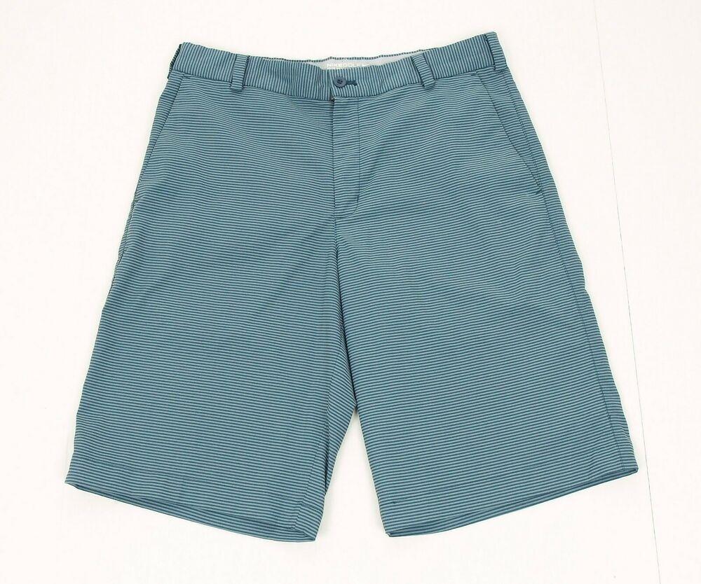 3f59de138887 Nike Golf Dri-Fit Blue Striped Casual Tech Flat Golf Shorts Mens 30  fashion