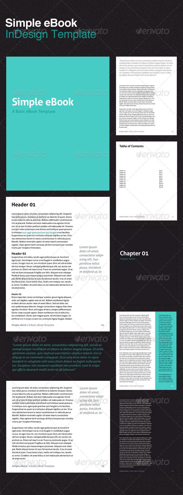 Simple Ebook Template Pinterest Italic Font Golden Ratio And
