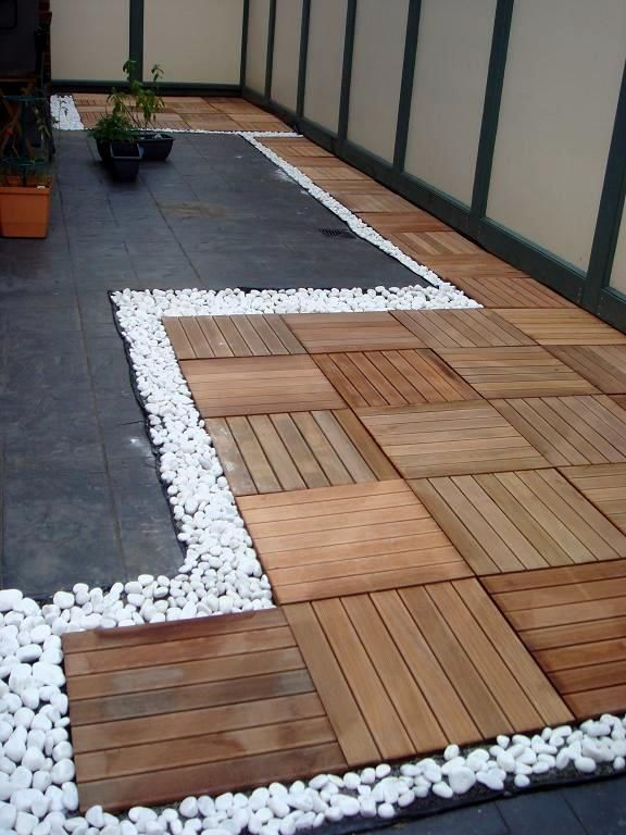 Outdoor Decking With Pebbles Outdoor Deck Decorating Patio Tiles Garden Decor Projects