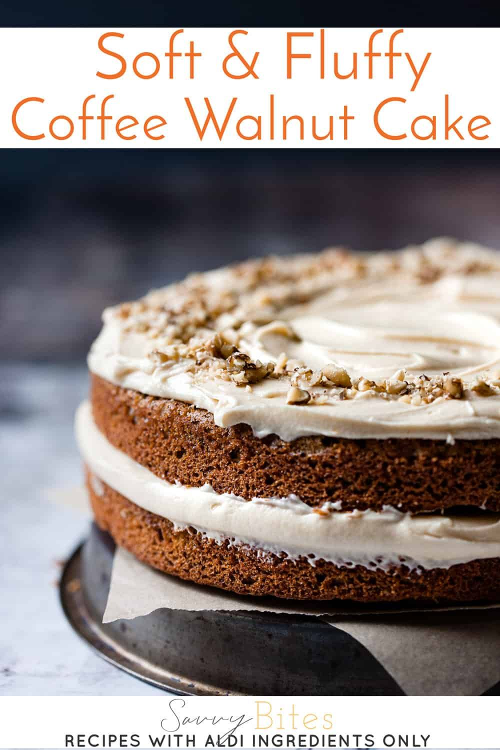 Soft and fluffy coffee walnut cake Recipe in 2020