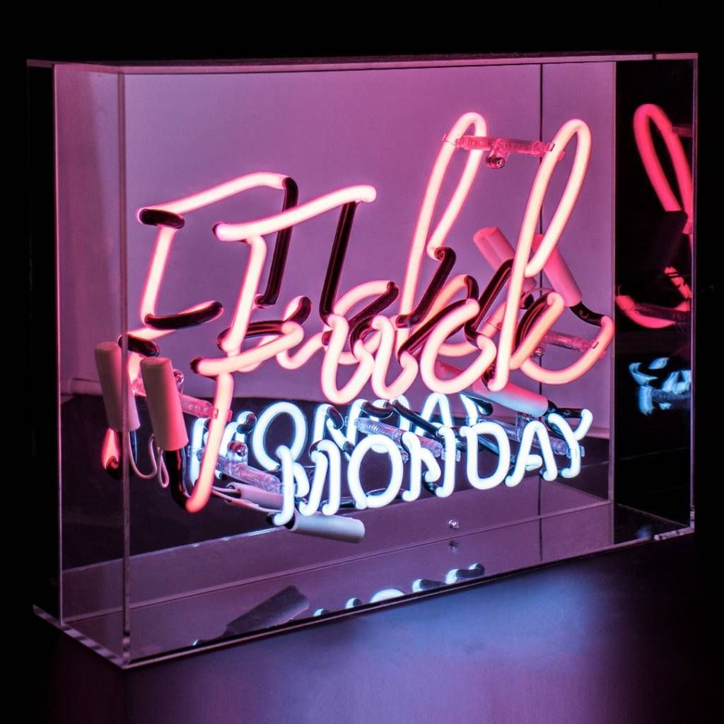 Neon LED Light Up Sign Bar Sign RED//WHITE Neon F*CK OFF Acrylic Light Box
