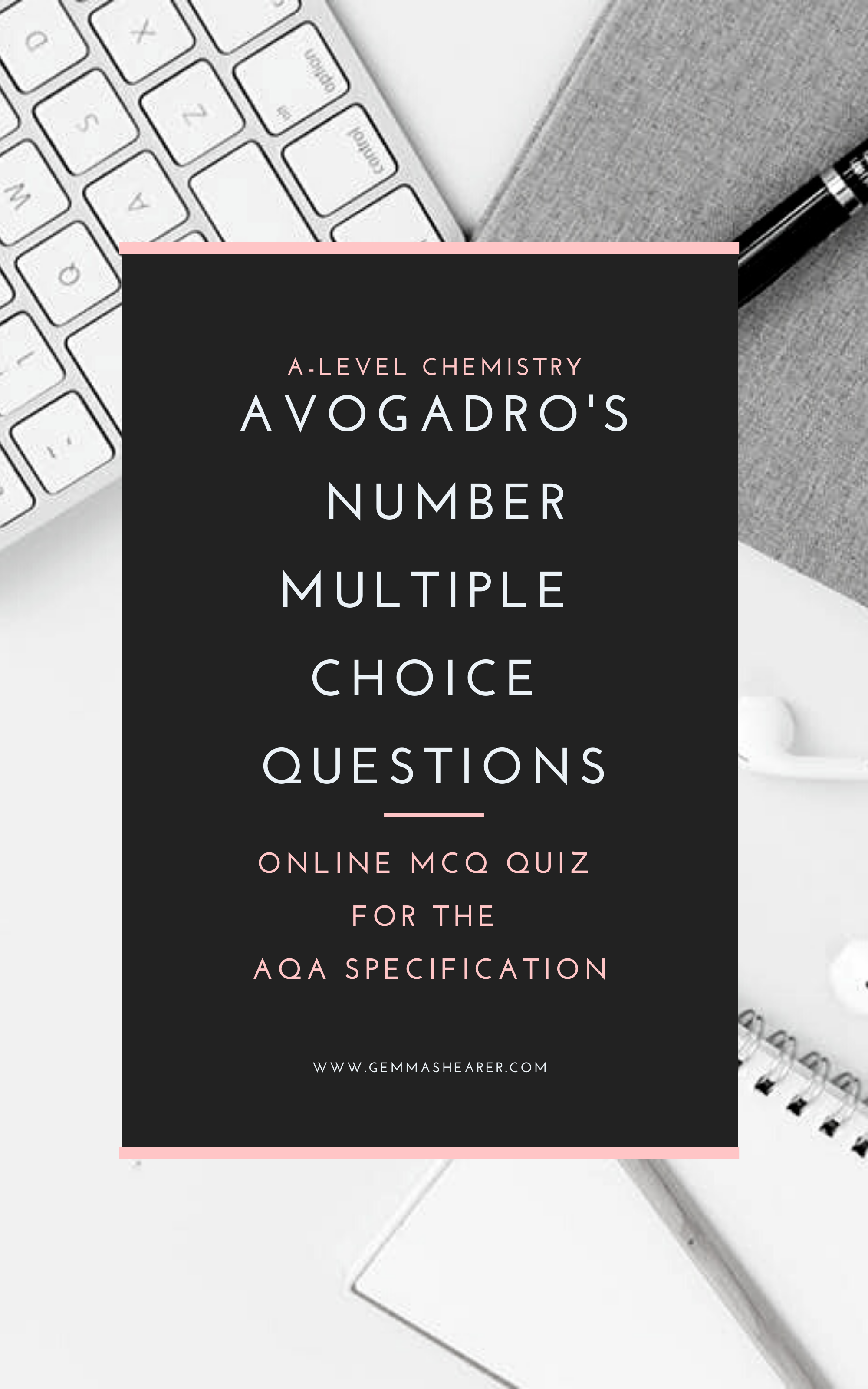 Avogadro's number multiple choice questions for Alevel
