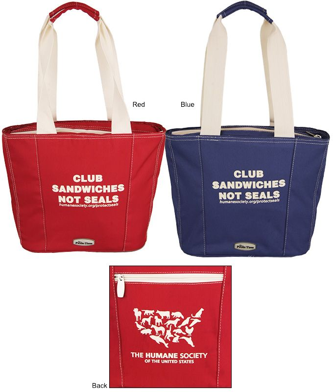 The Animal Rescue Site Store Hsus Logo Insulated Lunch Tote