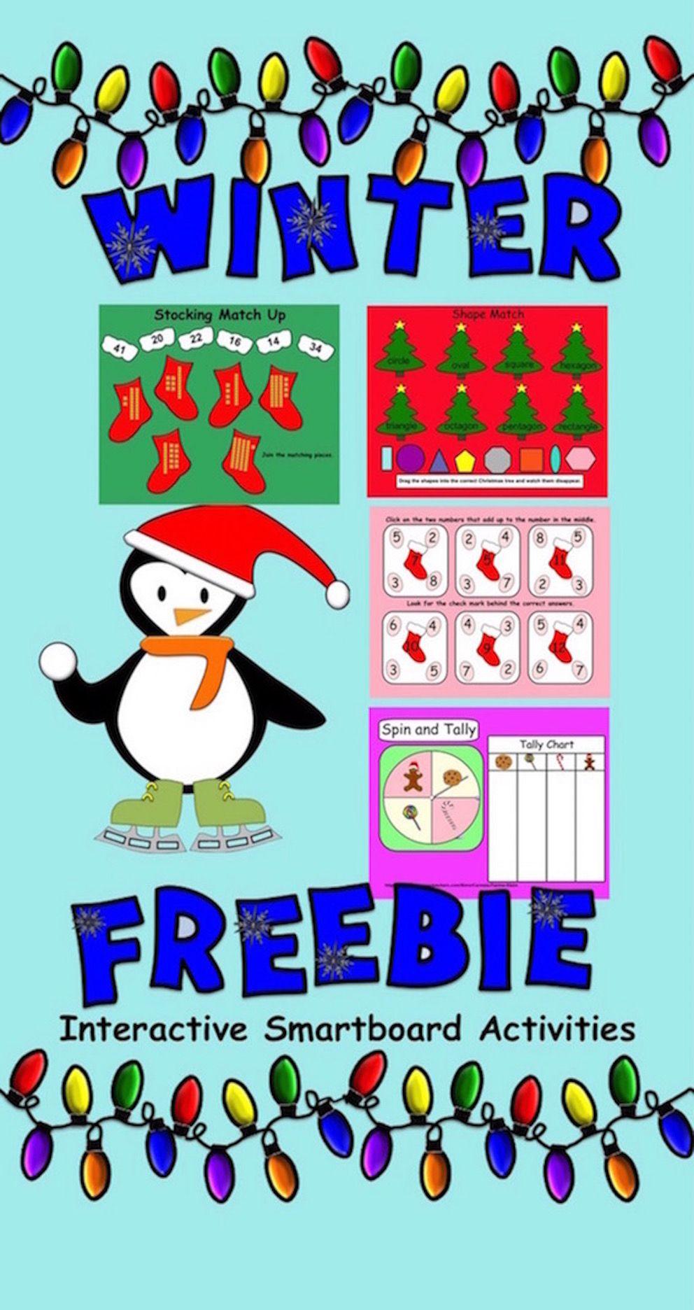 Freebie Interactive Winter Smartboard Activities For Gr 1 Tpt Venn Diagram