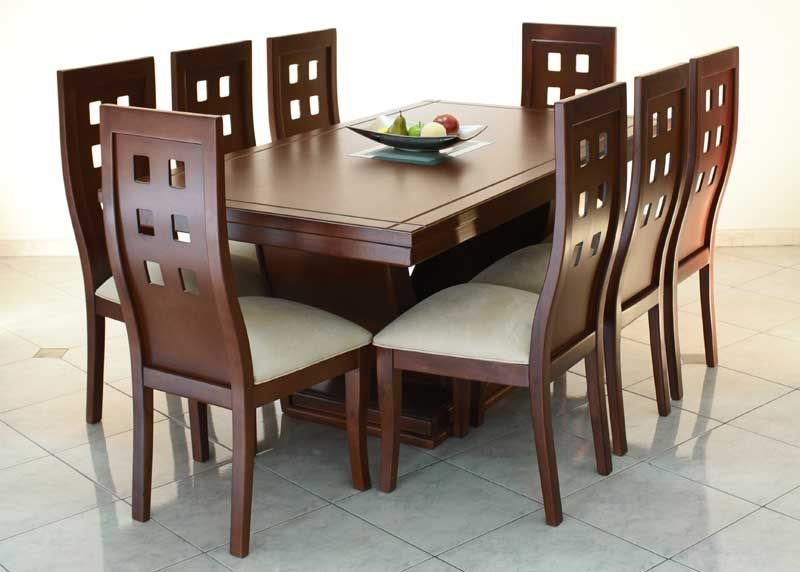 Comedor 6 sillas rectangular planos de carpinter a for Comedores minimalistas 6 sillas