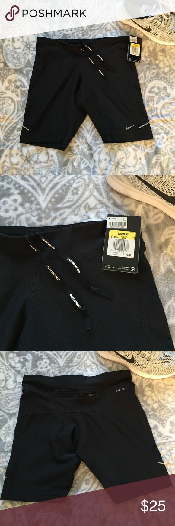 """New Listing! Nike Filament Training Shorts The Nike 8"""" Filament shorts have flat seams that hug body- wide, flat, stretch waist with interior drawcord and zip rear pocket. Brand new with tags. Nike Shorts"""
