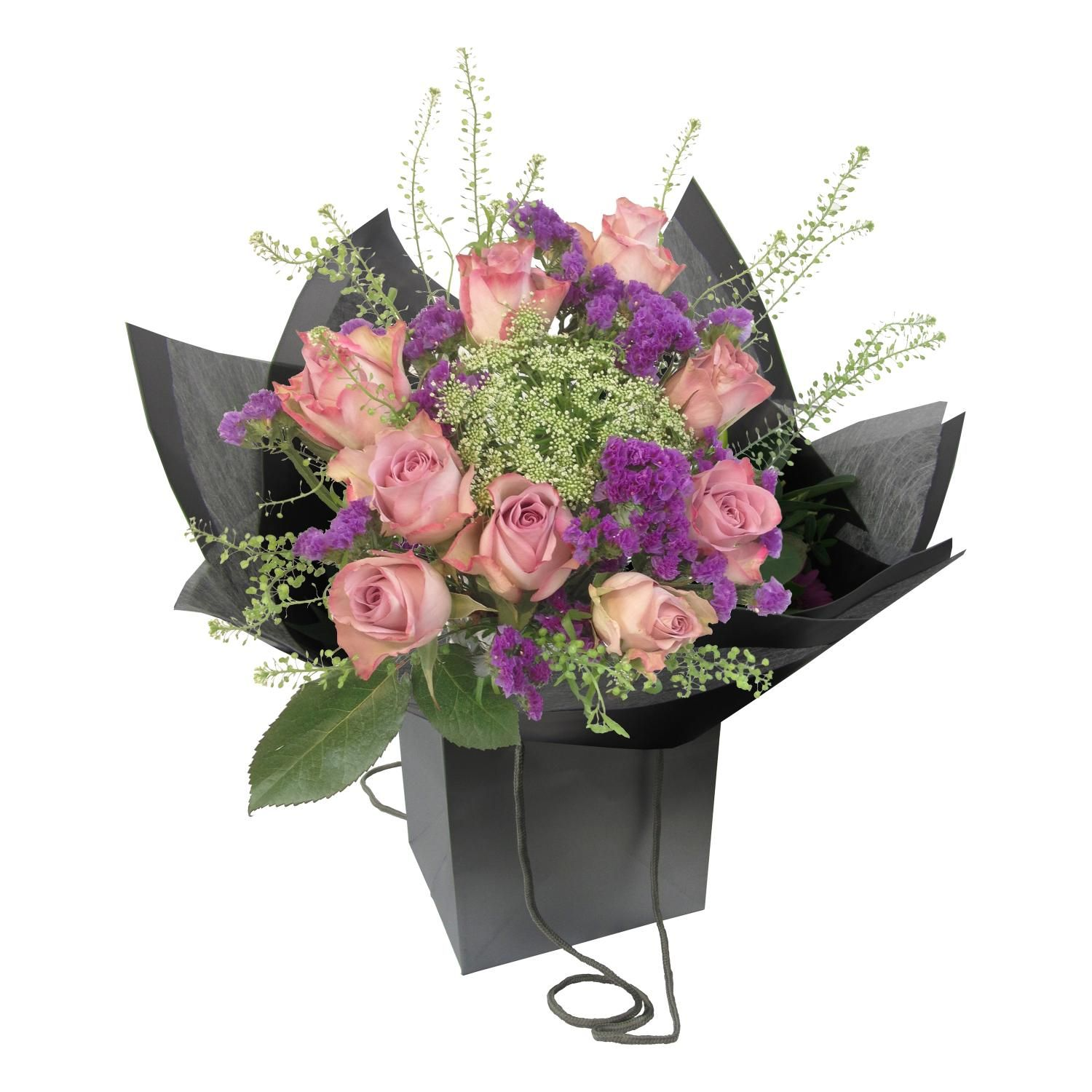 £30.00 - Monet Bouquet. The pastel shades of lilacs, pinks and greens in #Monet's 'Water-Lily Pond' are recreated in our bouquet by Memory Lane Roses, purple Statice, pale pink Veronica and Thlaspi. A touch of light is given by the Ammi's tiny flowerlets, making it a perfect and delicate gift for #ValentinesDay http://bit.ly/1PRSRZc