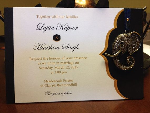 Elegant Indian Wedding Invitation