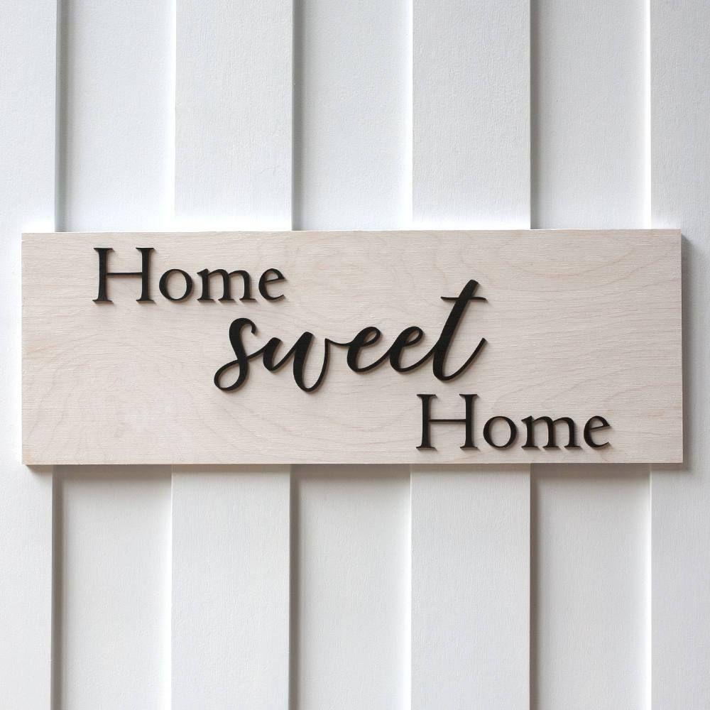 Wooden Home Signs Decor Home Sweet Home Sign White Washshabby Chic Decor Farm House Sign
