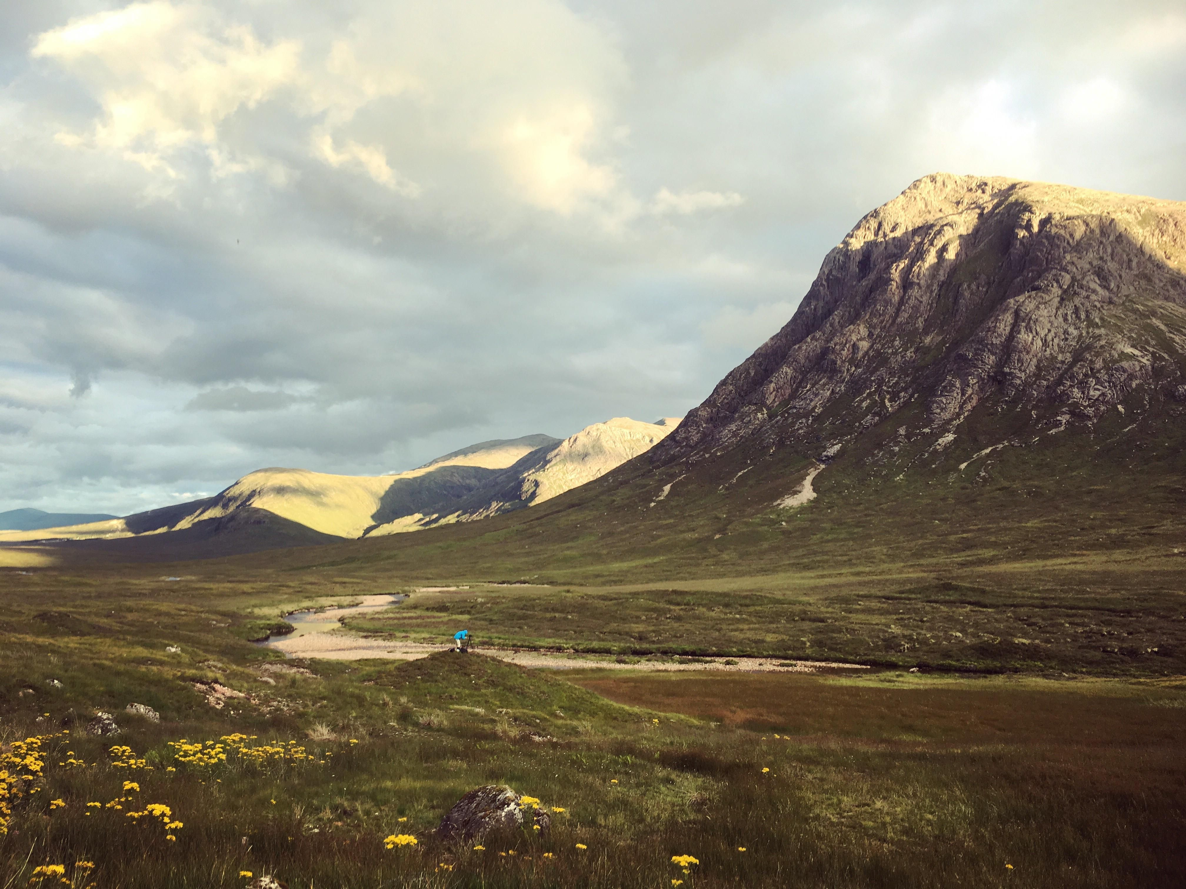 Golden hour in the highlands West Highland Way Scotland UK