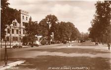 St Giles Street  Oxford unused RP pc 1934 Valentines