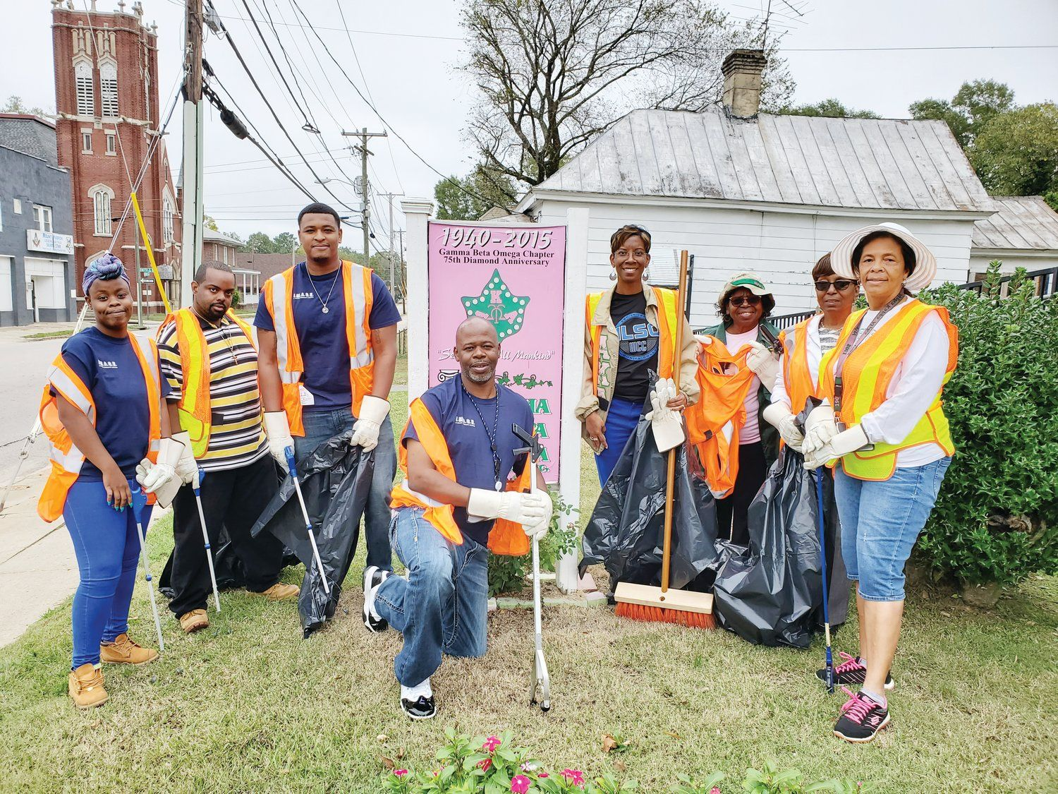 Wilson Community College Students Help Clean City Street The