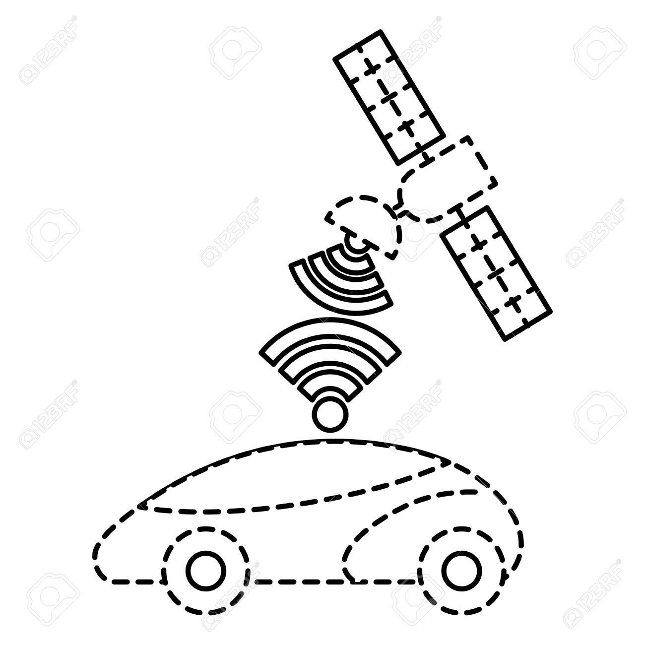 gps navigation satellite help car destination signal vector illustration ,  #Affiliate, #satellite, #car, #gps, #navigation, #vector
