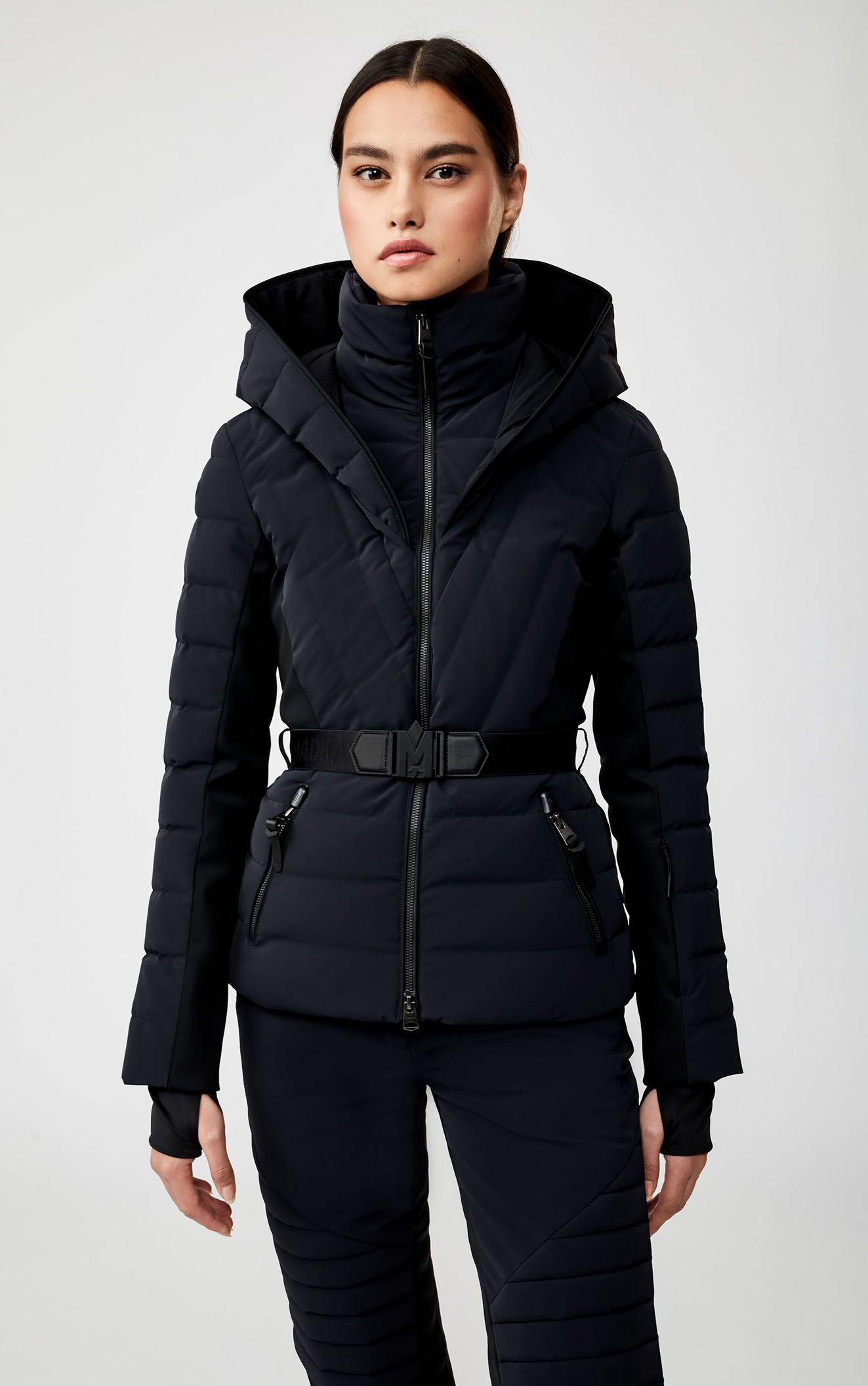 ELITA down ski jacket with removable hood | MACKAGE