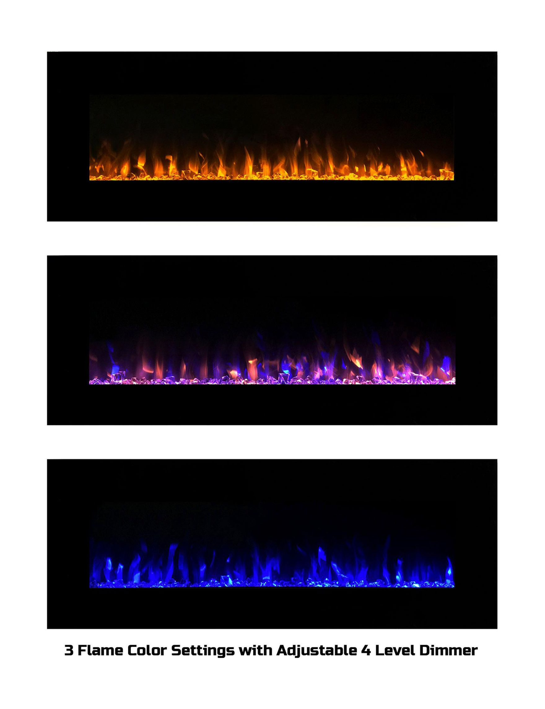 The Northwest Company 54 Led Fire Ice Flame No Heat Electric