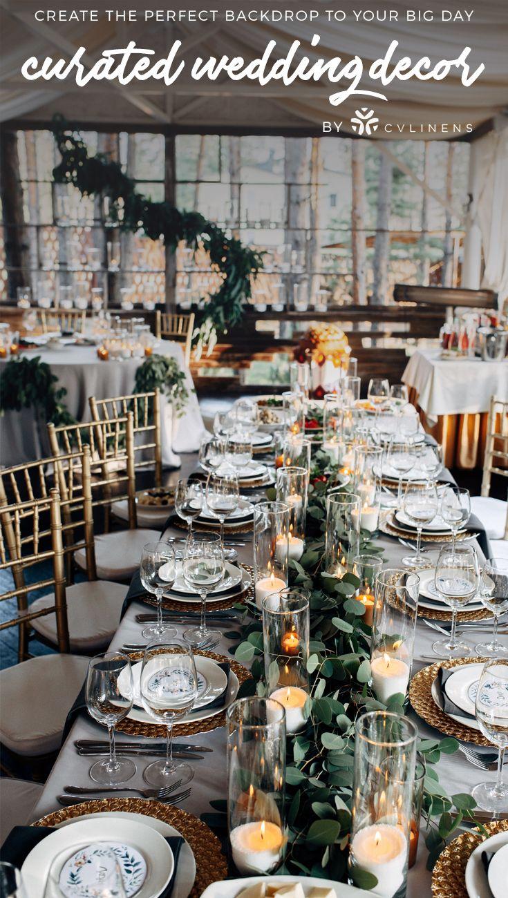 Silver and gold elegant rustic wedding reception rustic