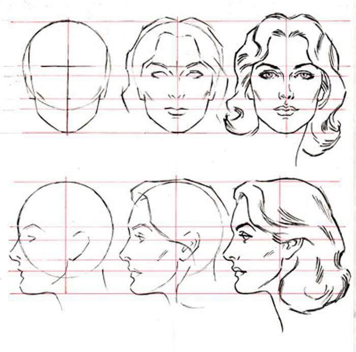 большей в картинках как нарисовать лицо человека поэтапно карандашом его симптомы